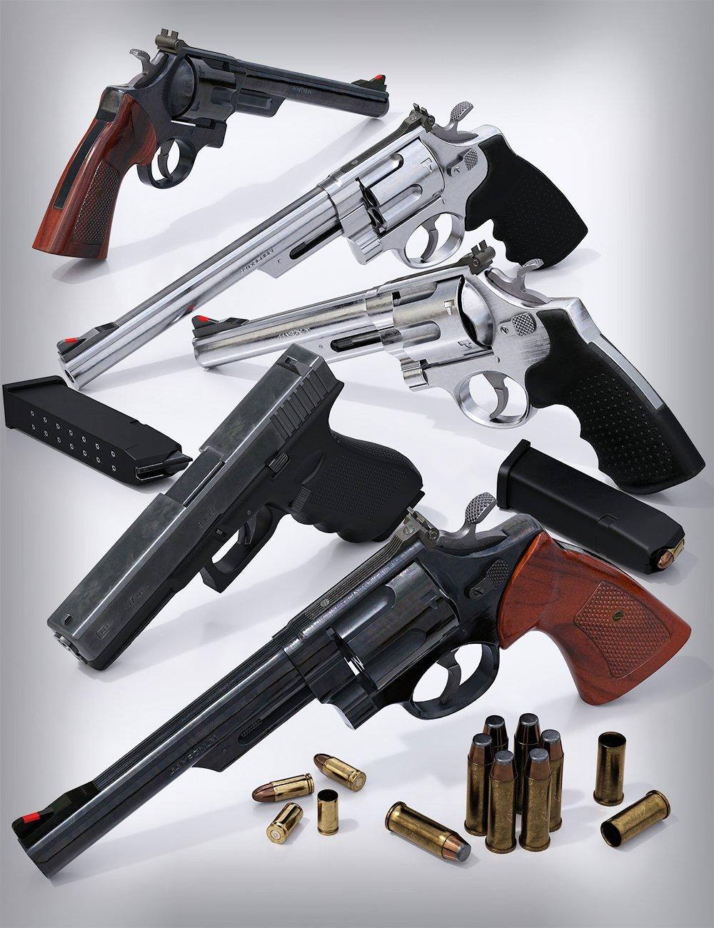Modern Handguns by: Porsimo, 3D Models by Daz 3D