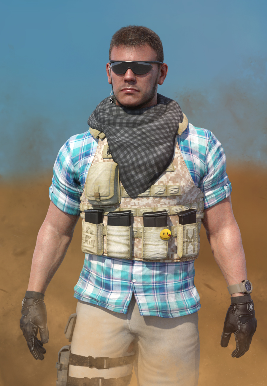 Mercenary Outfit for Dain 8 and Genesis 8 Male(s) by: , 3D Models by Daz 3D