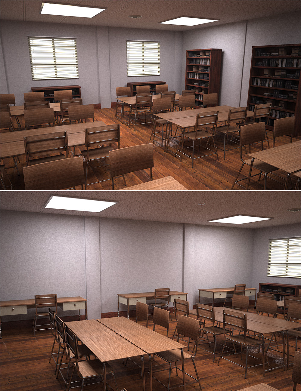 Library Study Room by: , 3D Models by Daz 3D