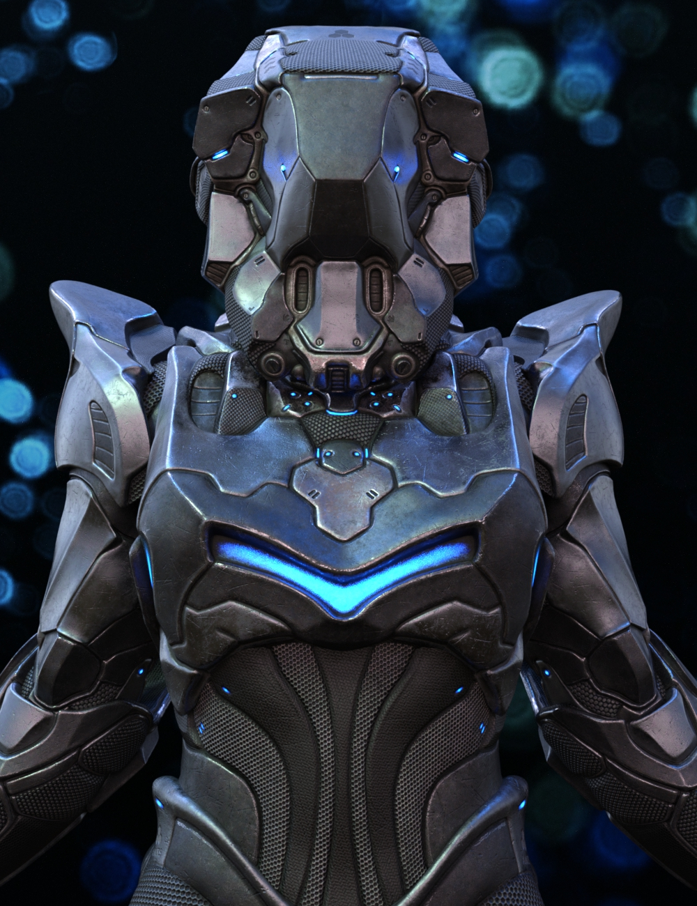 A.N.T.S Armored Nano Tech Suit for Genesis 8 Female by: Dajenksta, 3D Models by Daz 3D