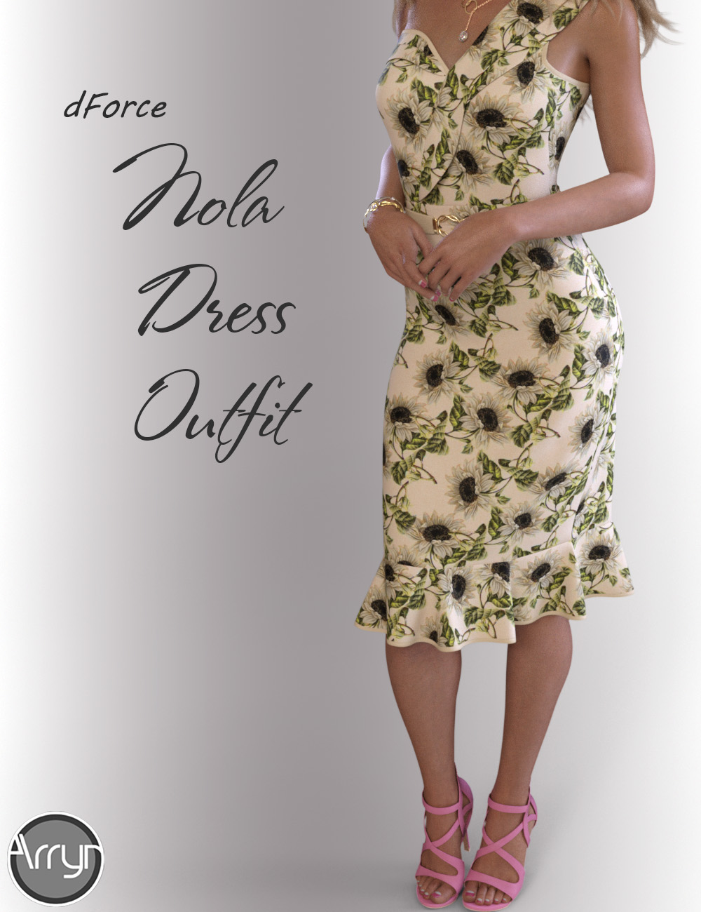 dForce Nola Cocktail Dress outfit for Genesis 8 Female(s) by: OnnelArryn, 3D Models by Daz 3D