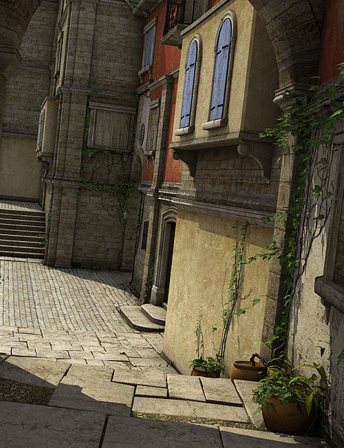 Streets Of The Mediterranean by: Stonemason, 3D Models by Daz 3D