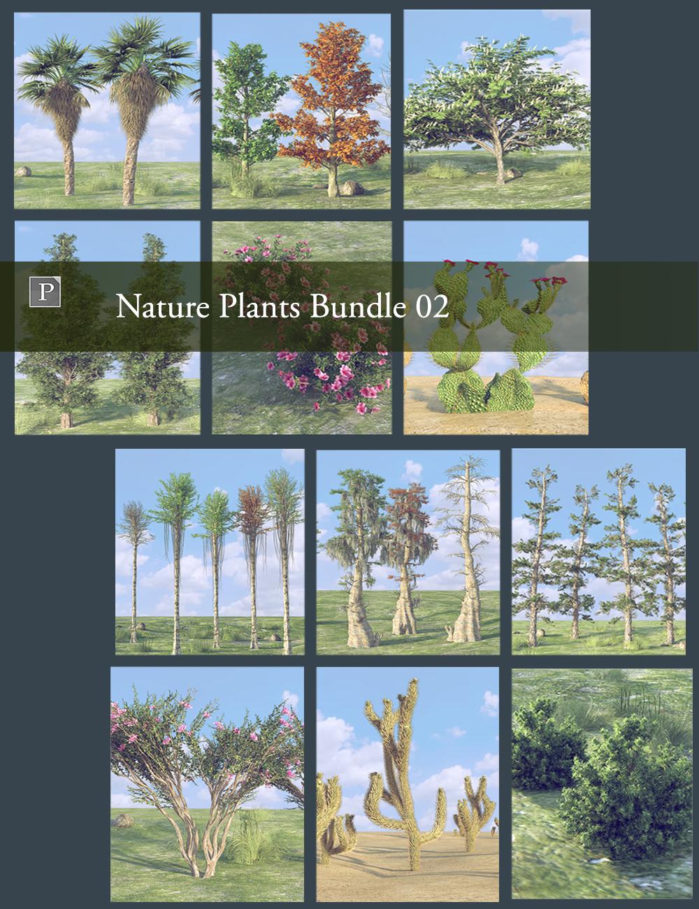Nature Plants Bundle 02 by: Polish, 3D Models by Daz 3D