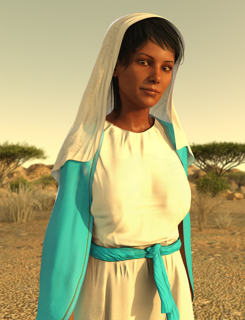 dForce Middle Eastern Outfit for Genesis 8 Female(s) by: Meshitup, 3D Models by Daz 3D