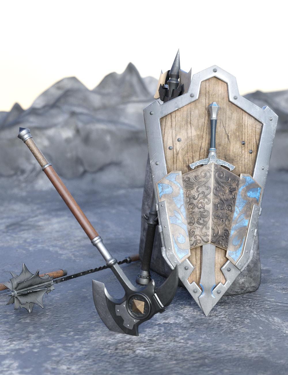 Fantasy Weapons by: fjaa3d, 3D Models by Daz 3D