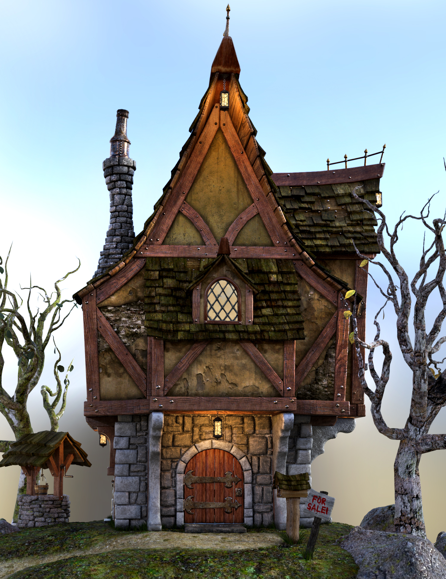 Old Crone's Home by: The Alchemist, 3D Models by Daz 3D