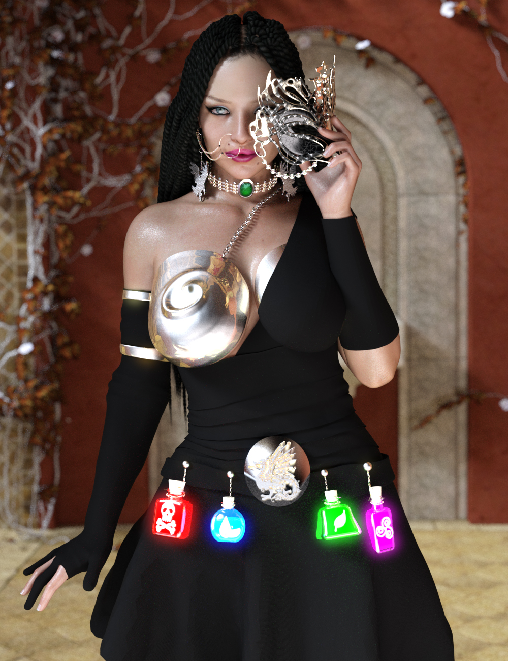dForce Xanadu Outfit by: ParallaxCreatesParallaxCreates, 3D Models by Daz 3D
