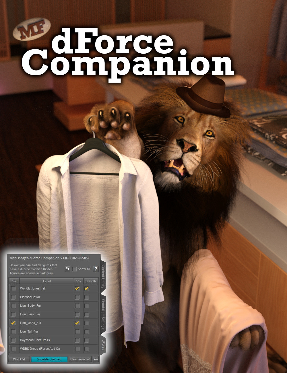 dForce Companion by: ManFriday, 3D Models by Daz 3D