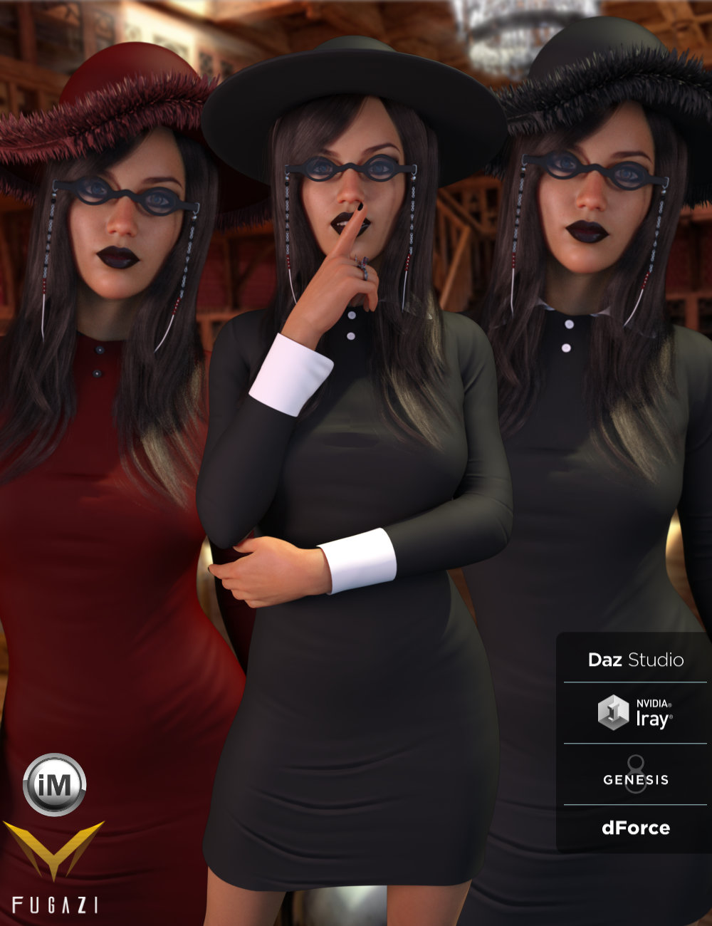 FG Gothic Outfit by: Fugazi1968Ironman, 3D Models by Daz 3D