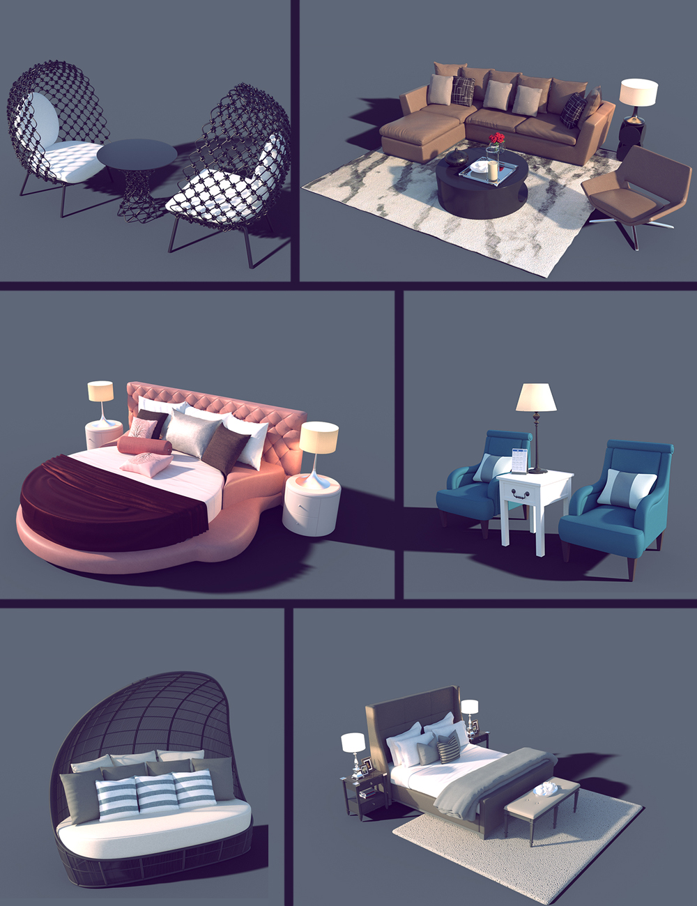 Interior Furniture 01 by: Polish, 3D Models by Daz 3D