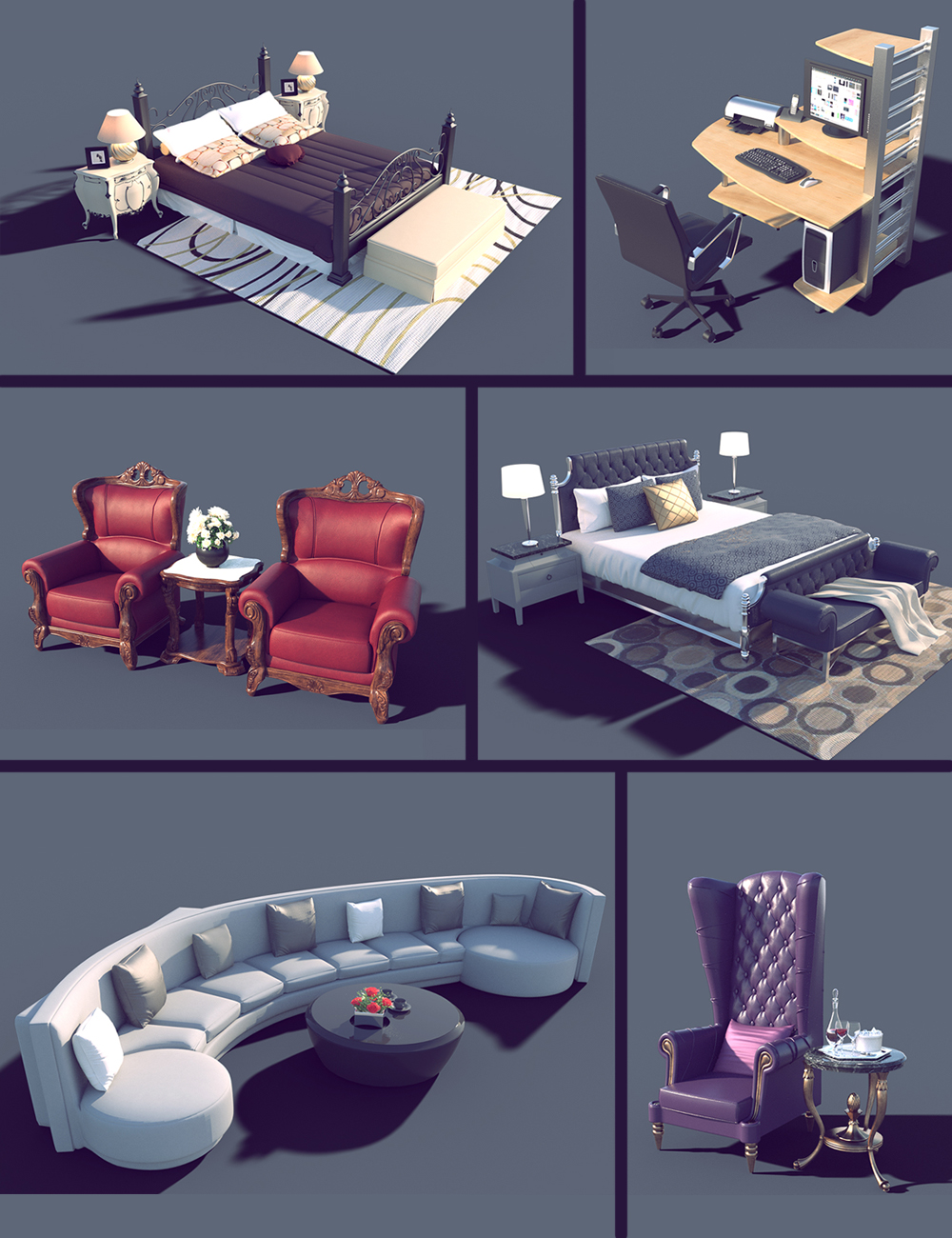 Interior Furniture 02 by: Polish, 3D Models by Daz 3D
