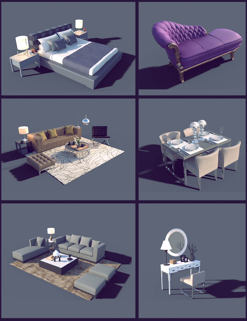 Interior Furniture 03 by: Polish, 3D Models by Daz 3D