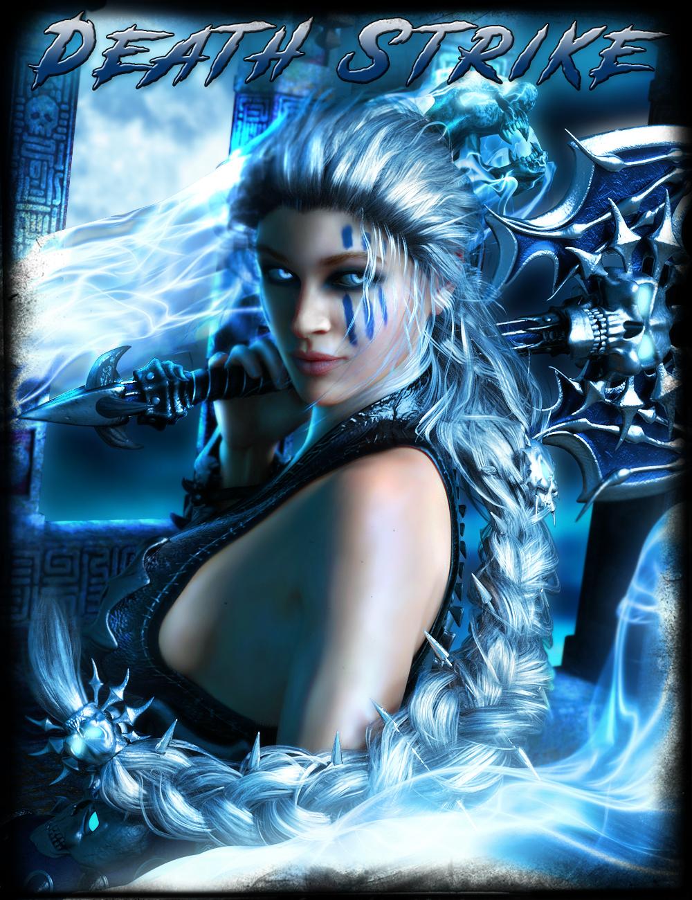 Death Strike Hair for Genesis 8 Female(s) by: IgnisSerpentus, 3D Models by Daz 3D
