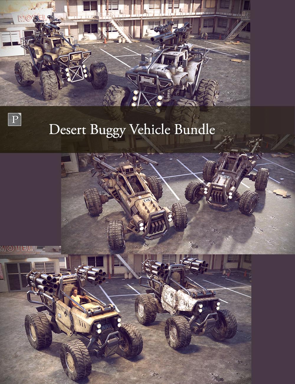 Desert Buggy Vehicle Bundle by: Polish, 3D Models by Daz 3D
