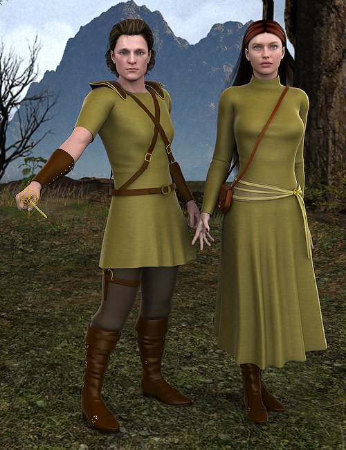 Courageous for V4 by: Ravenhair, 3D Models by Daz 3D