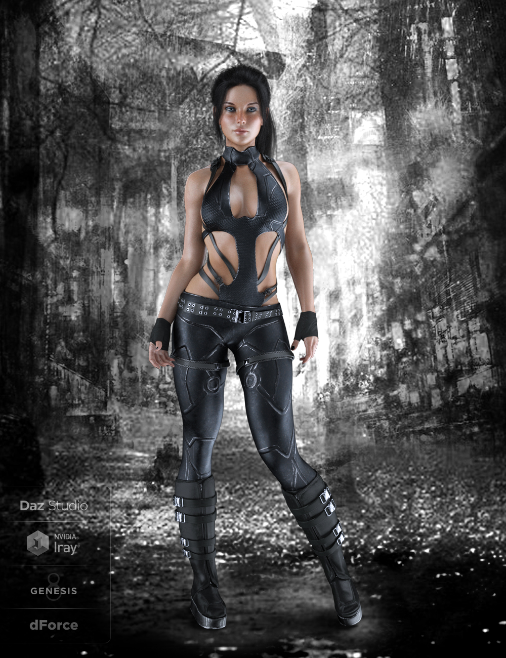 X-Fashion Tactical Touch Outfit for Genesis 8 Female(s) by: xtrart-3d, 3D Models by Daz 3D