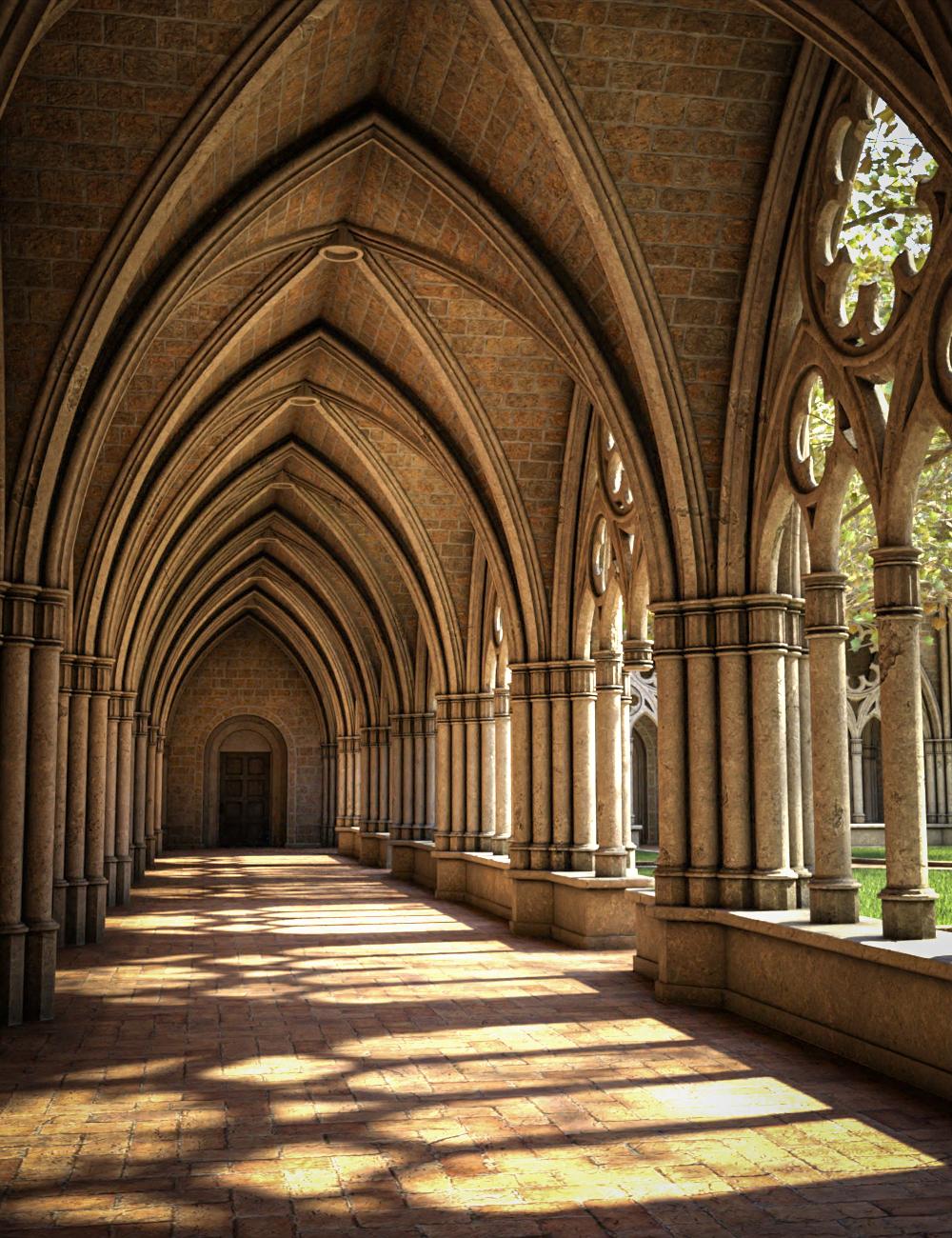 Gothic Courtyard by: SloshWerks, 3D Models by Daz 3D