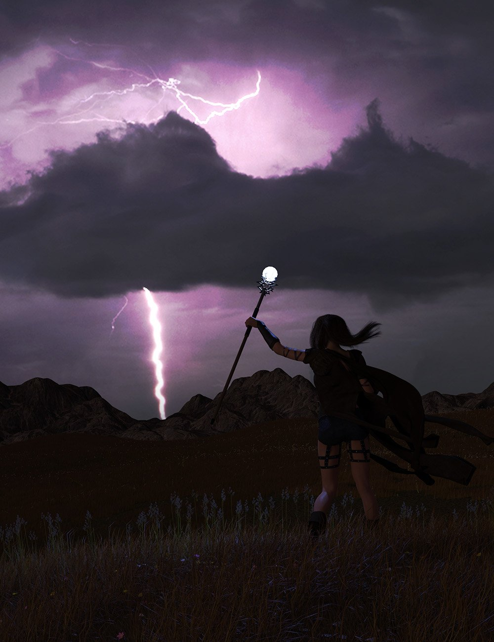 Orestes Iray HDRI Skydomes - Night Storms by: Orestes Graphics, 3D Models by Daz 3D