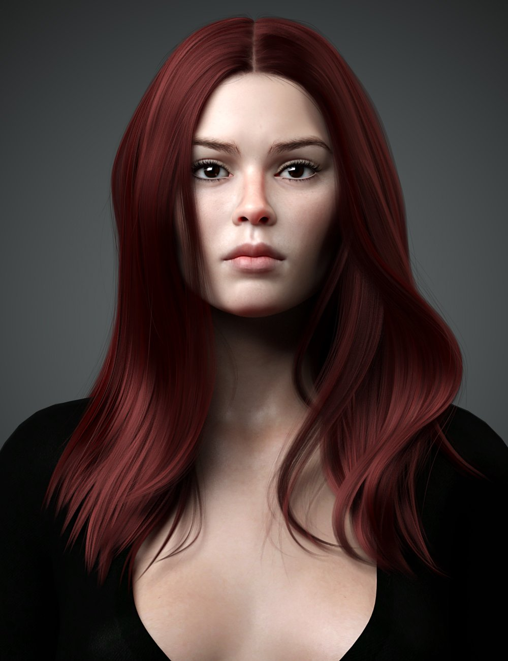 Lynna Hair For Genesis 8 Female(s) by: WindField, 3D Models by Daz 3D