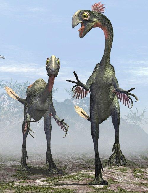 Gigantoraptor by: , 3D Models by Daz 3D