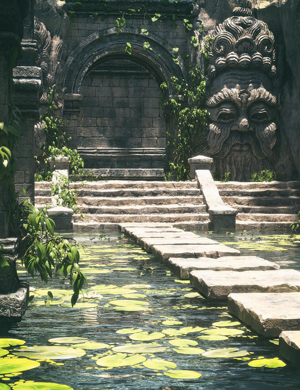 Temple Pool by: Stonemason, 3D Models by Daz 3D