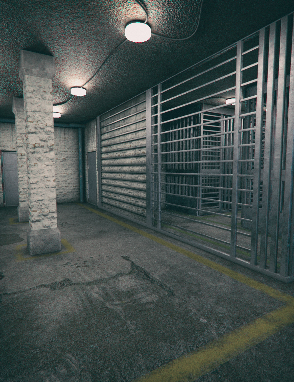 Old Prison Cells by: Mely3D, 3D Models by Daz 3D
