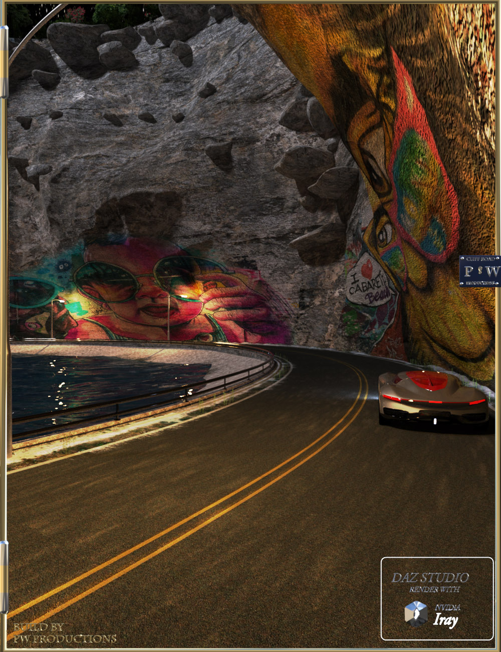 PW Cliff Road by: PW Productions, 3D Models by Daz 3D
