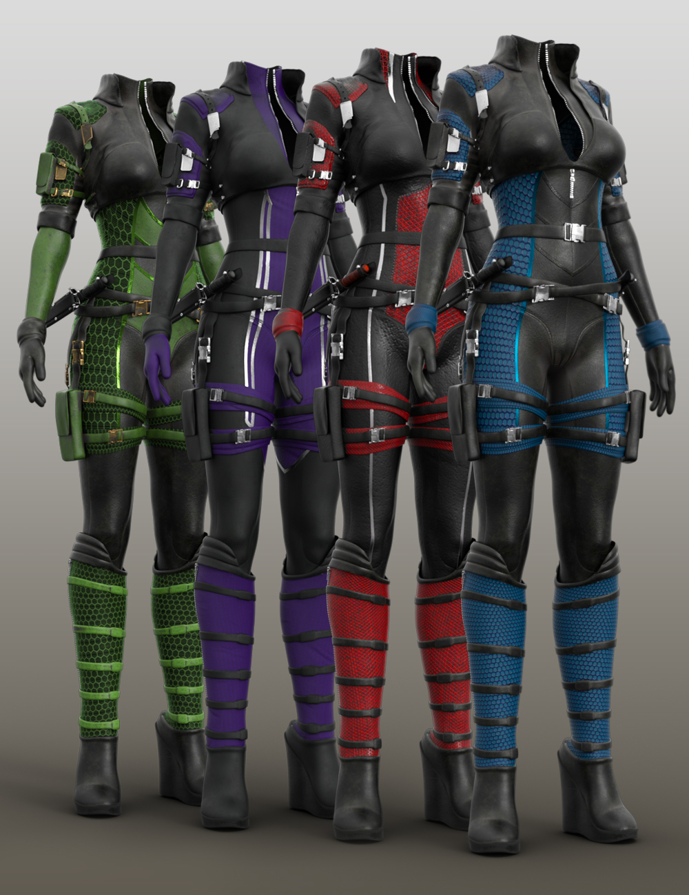 Trinity Wolf Outfit Textures by: Moonscape GraphicsSade, 3D Models by Daz 3D