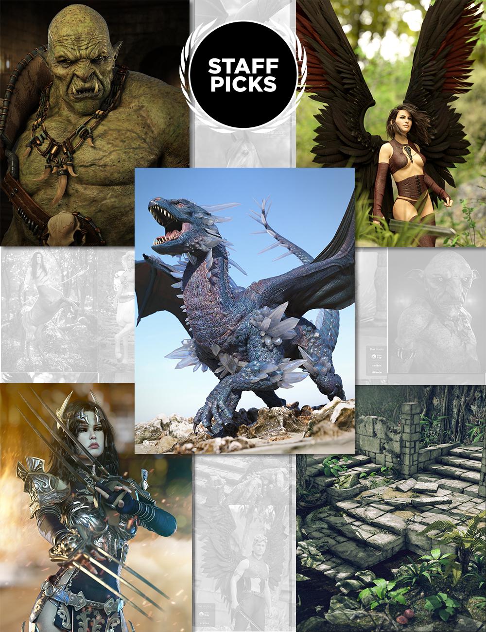 Staff Picks Fantasy Mega Bundle by: , 3D Models by Daz 3D