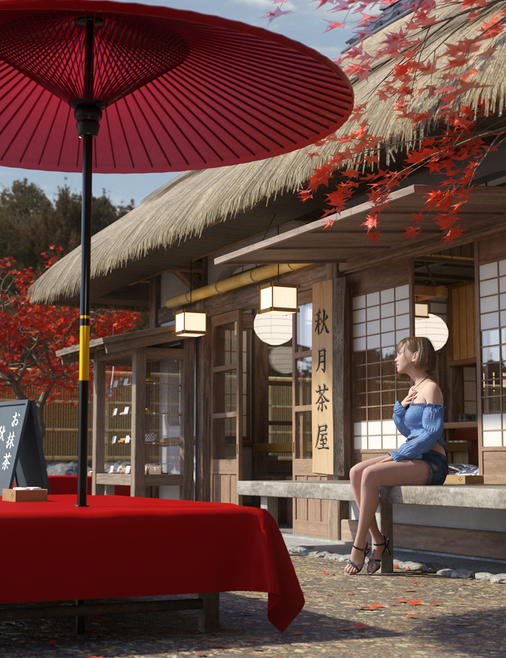 Traditional Japanese Tea Shop by: SilverMoon, 3D Models by Daz 3D