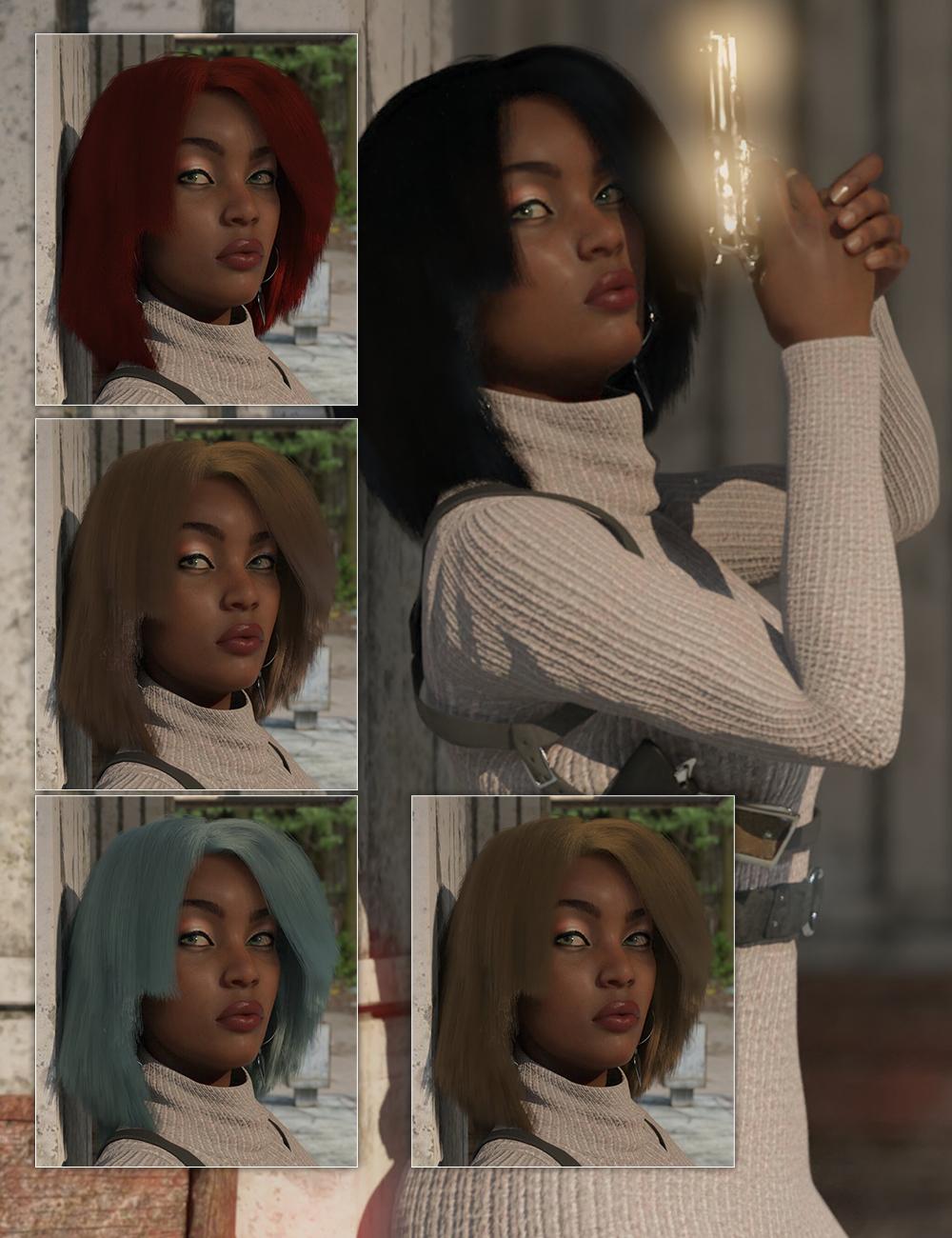 dForce Operator Hair for Genesis 8 Female(s) by: Sixus1 Media, 3D Models by Daz 3D