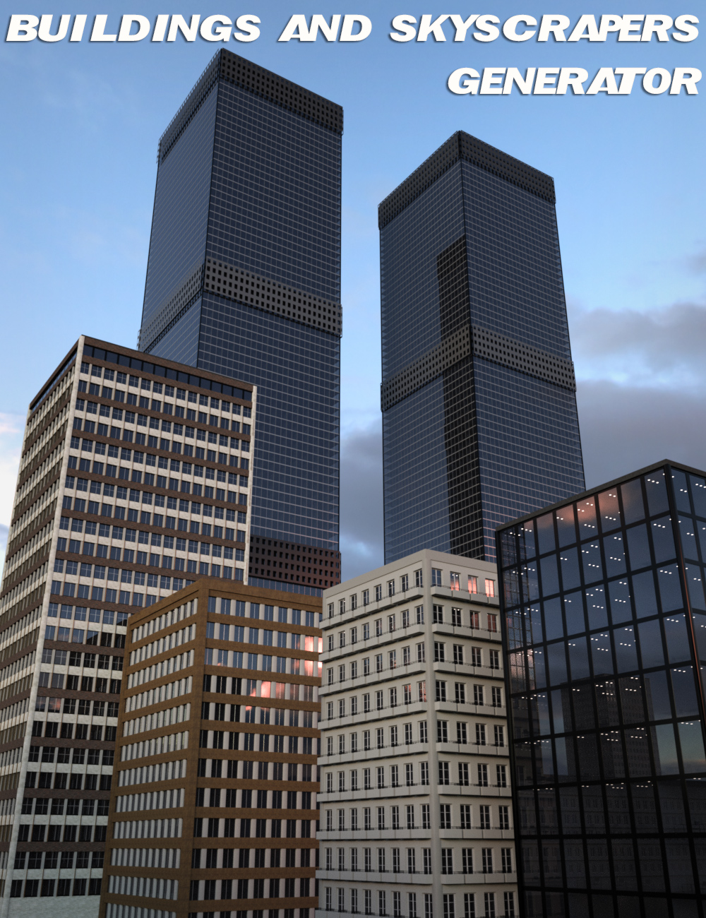 V3Digitimes Buildings and Skyscrapers Generator Vol. 1 by: V3Digitimes, 3D Models by Daz 3D