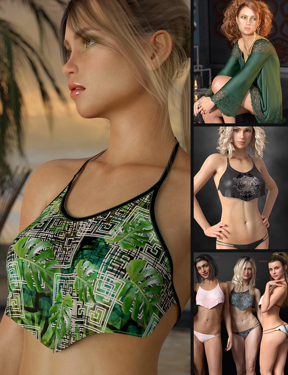 Wilder and Her Bikini Bundle by: Lyoness, 3D Models by Daz 3D