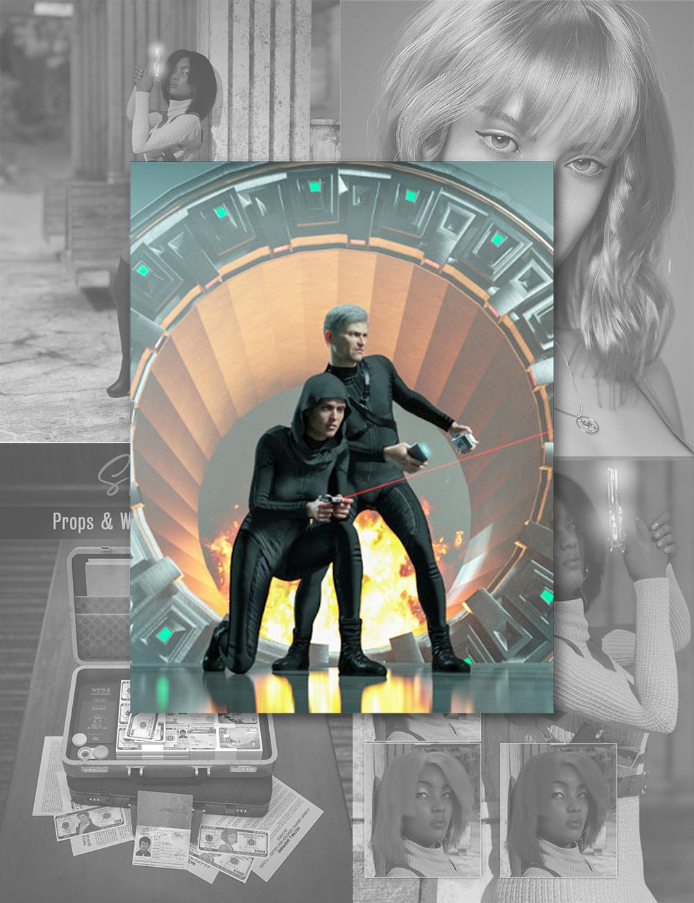 Enemy Agent Bundle by: , 3D Models by Daz 3D