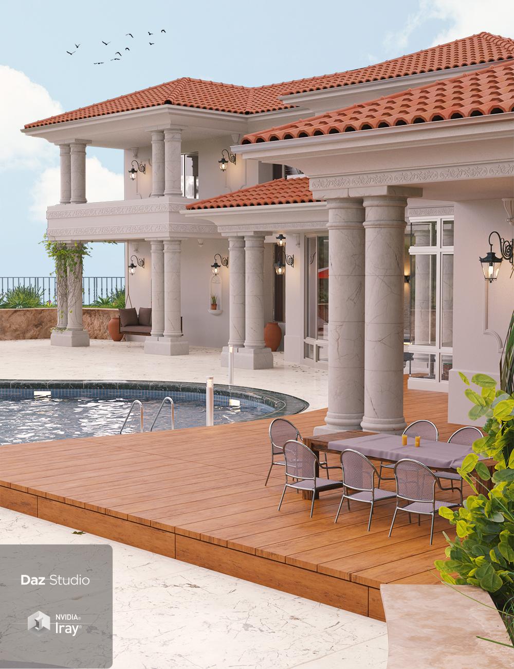Hamptons Estate by: PrefoX, 3D Models by Daz 3D