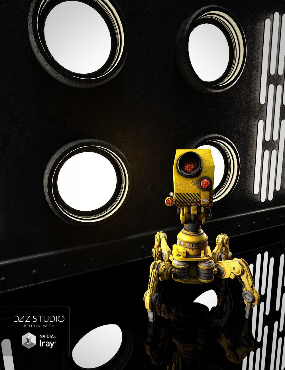 Modular Sci-Fi Wall Lights by: , 3D Models by Daz 3D