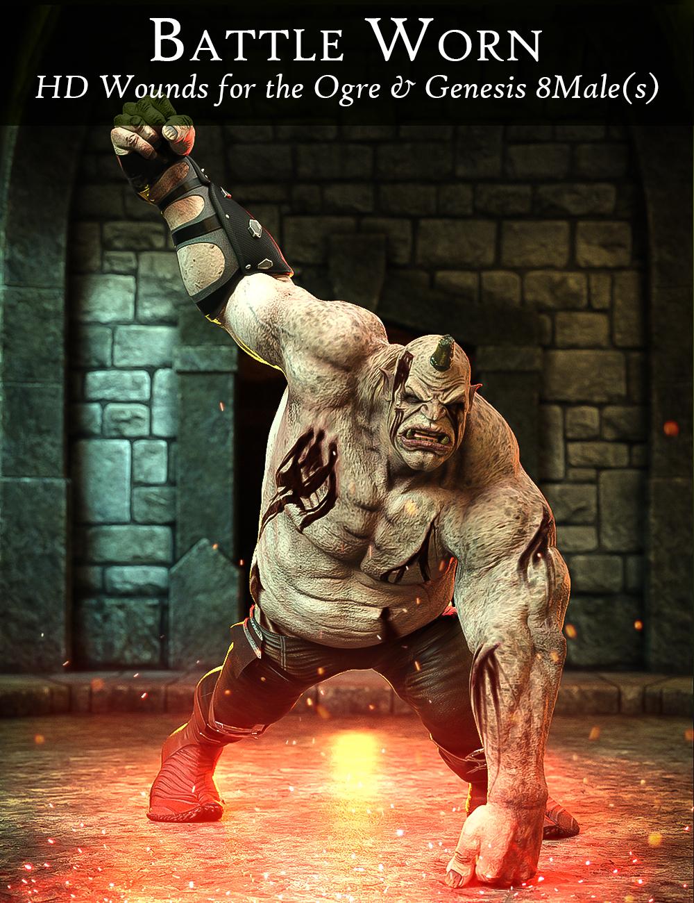 Battle Worn for Ogre HD and Genesis 8 Male(s) by: FenixPhoenixEsid, 3D Models by Daz 3D