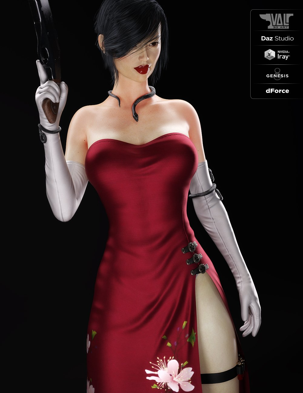 dForce Nicole Agent Outfit for Genesis 8 Female(s) by: Val3dart, 3D Models by Daz 3D
