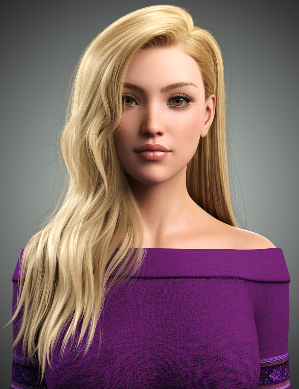 Monica Hair For Genesis 8 Female(s) by: WindField, 3D Models by Daz 3D