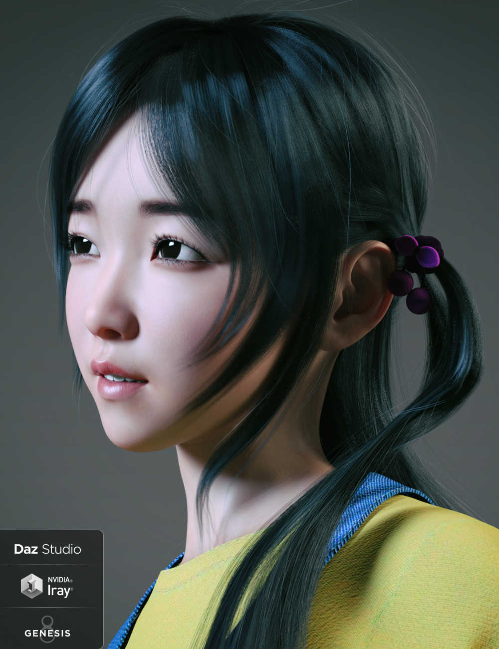 Hashimoto Character and Hair for Genesis 8 Female by: GoannaSue Yee, 3D Models by Daz 3D