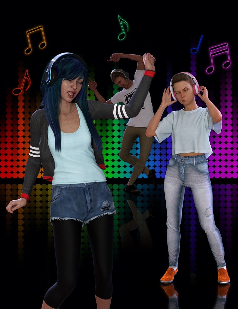 Dance 2 the Music by: NewGuy, 3D Models by Daz 3D
