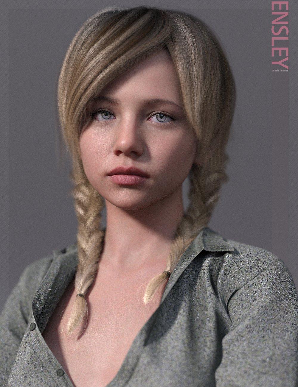 Ensley HD & Expressions HD for Genesis 8 Female by: bluejaunte, 3D Models by Daz 3D