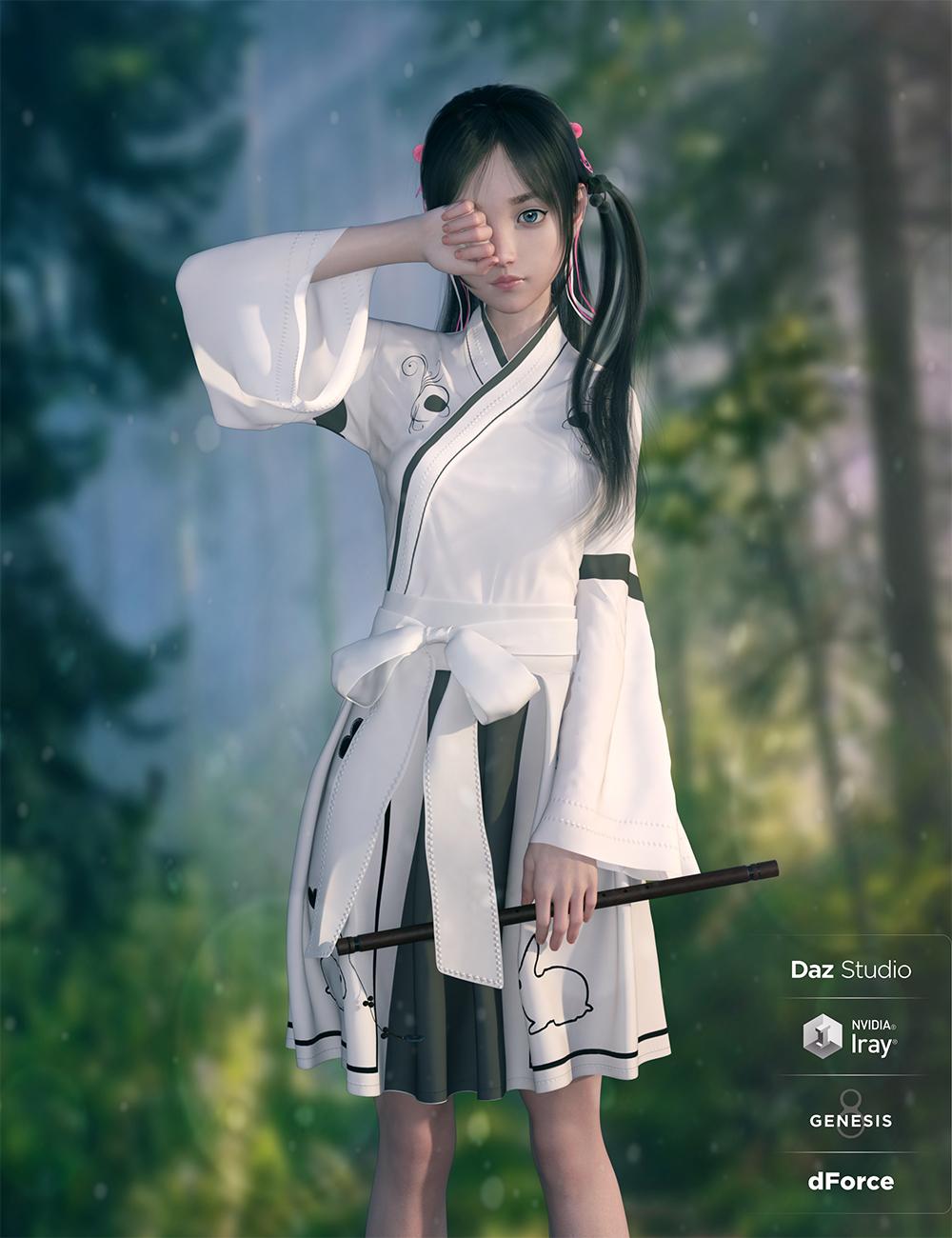 dForce Modern Kimono for Genesis 8 Female(s) by: Sue Yee, 3D Models by Daz 3D