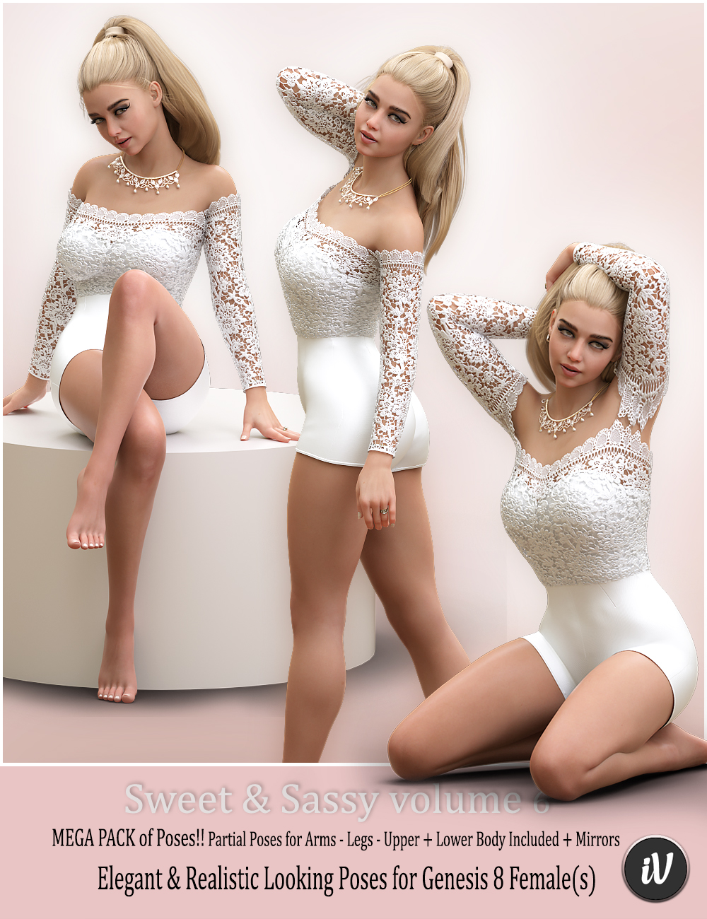 iV Sweet & Sassy Vol. 6 Pose Collection for Genesis 8 Female(s) by: i3D_LotusValery3D, 3D Models by Daz 3D