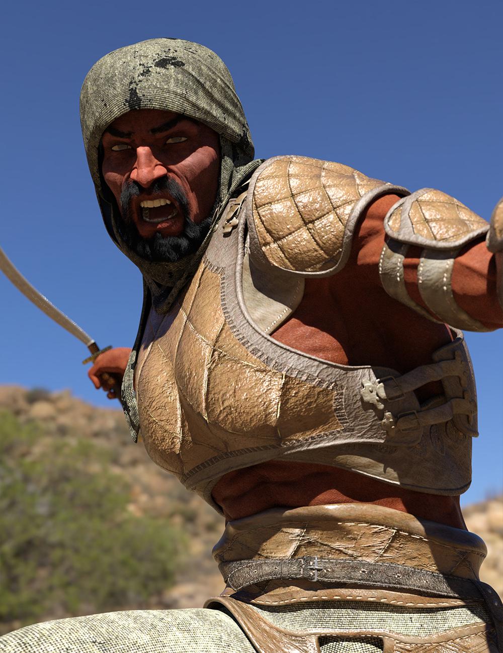 Bedu Desert Warrior Outfit for Genesis 8 Male(s) by: Sixus1 Media, 3D Models by Daz 3D