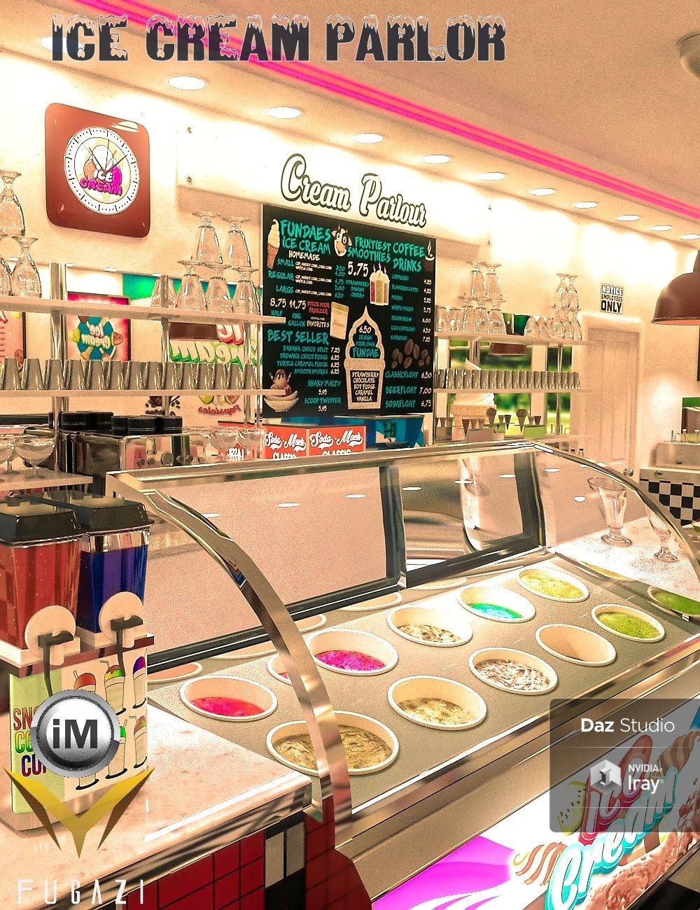 FG Ice Cream Parlor by: Fugazi1968Ironman, 3D Models by Daz 3D