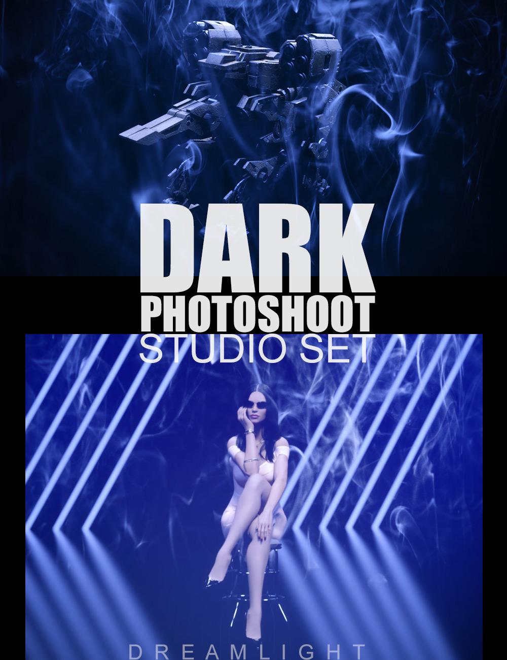 Dark Photoshoot Studio Set by: Dreamlight, 3D Models by Daz 3D