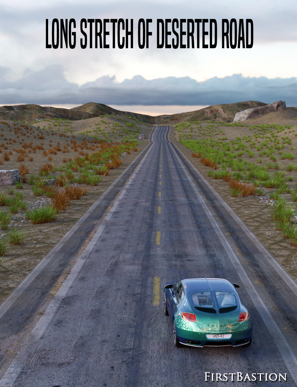 1stB Long Stretch of Deserted Road by: FirstBastion, 3D Models by Daz 3D