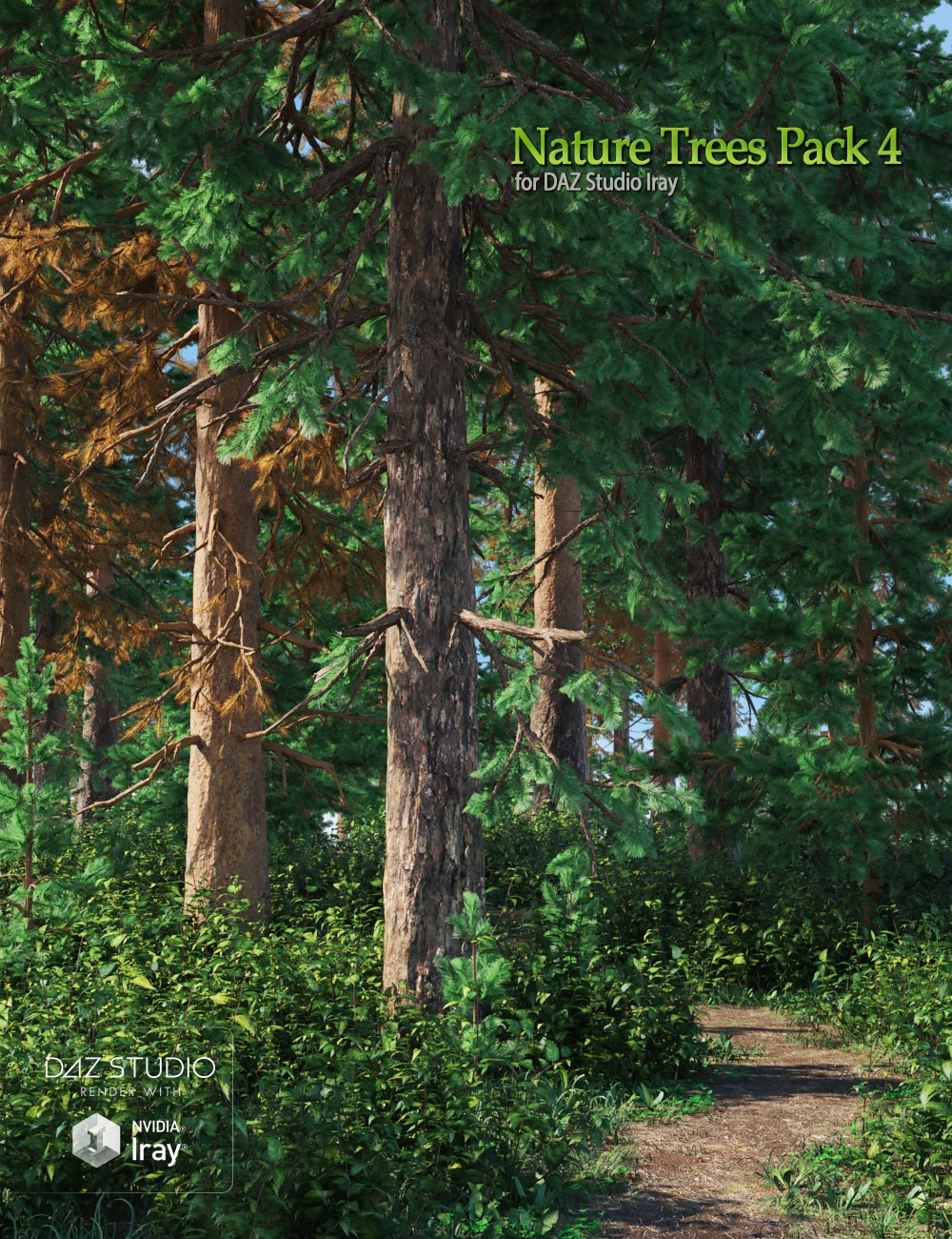 Nature Trees Pack 4 by: Andrey Pestryakov, 3D Models by Daz 3D