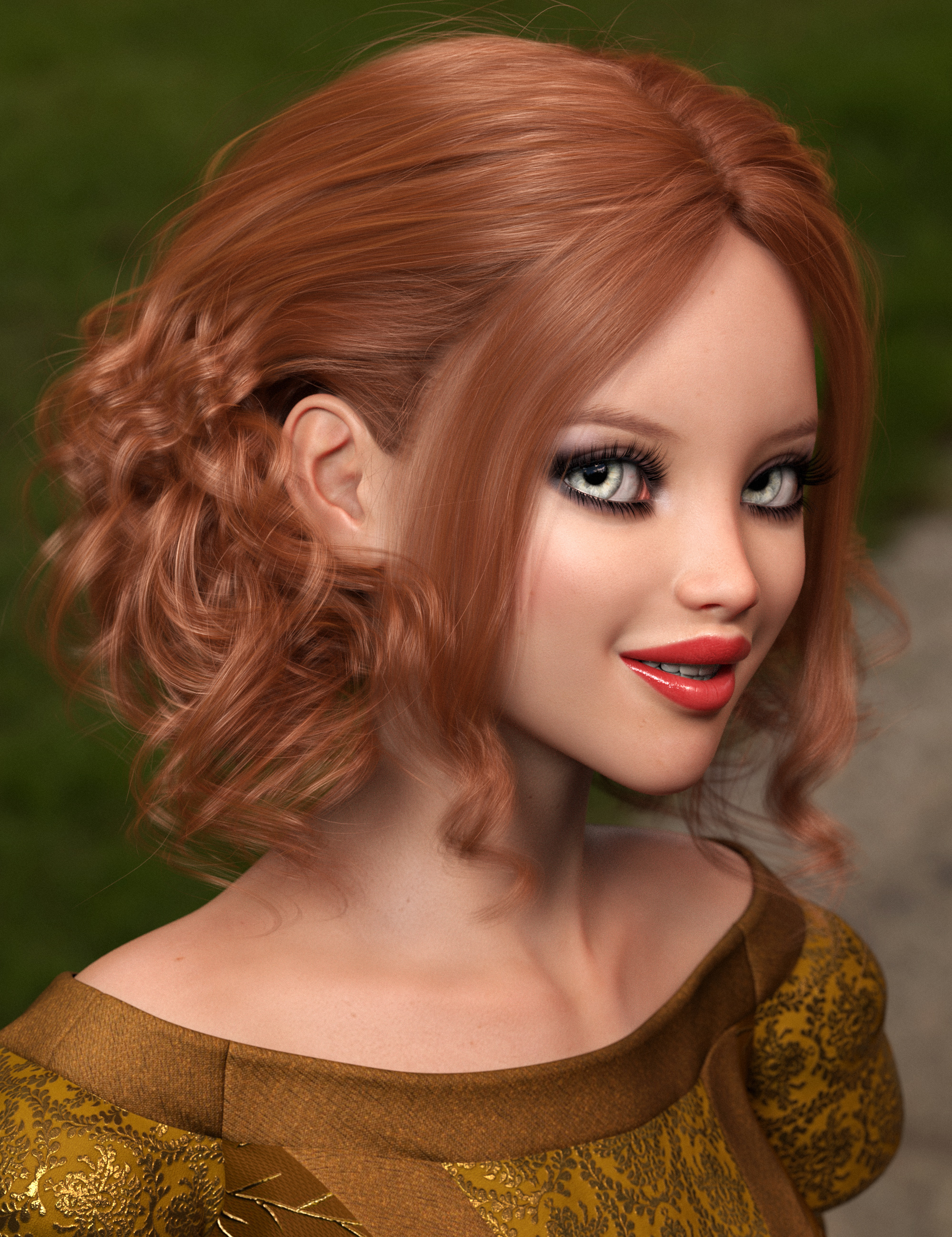 Bendine Hair for Genesis 3 and 8 Female(s) by: outoftouch, 3D Models by Daz 3D